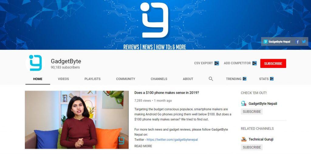 Top 10 Best Nepali Tech Channels - GadgetByte