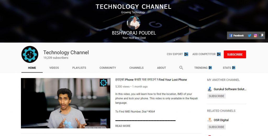 Top 10 Best Nepali Tech Channels - TECHNOLOGY CHANNEL