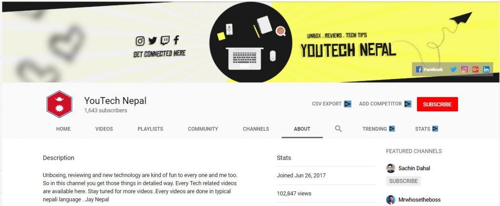 YouTech Nepal - Top 10 Best Nepali Tech Channels