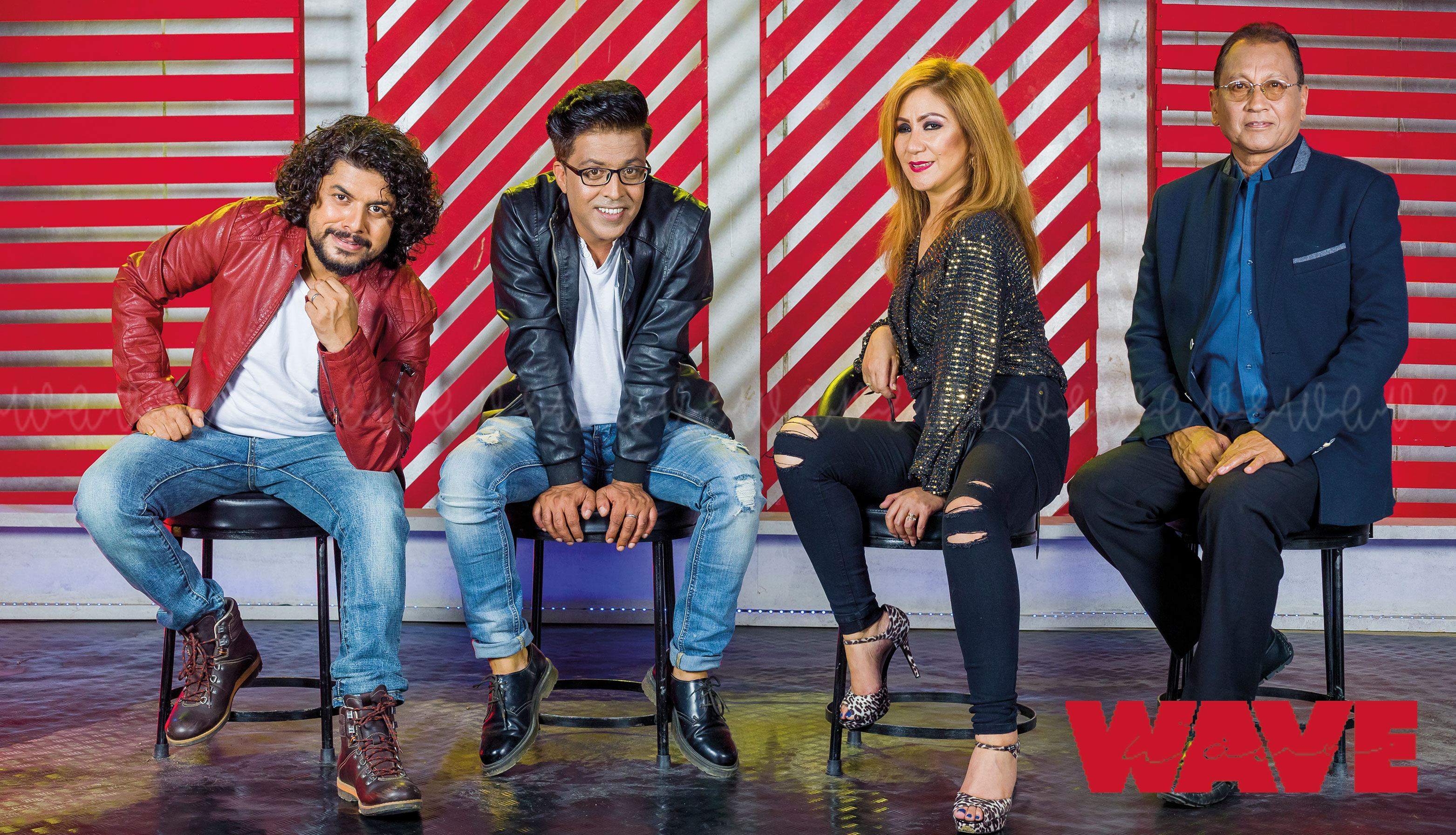 Abhaya Subba Sanup Paudel Deep Shrestha Pramod Kharel As Coach In The Voice of Nepal